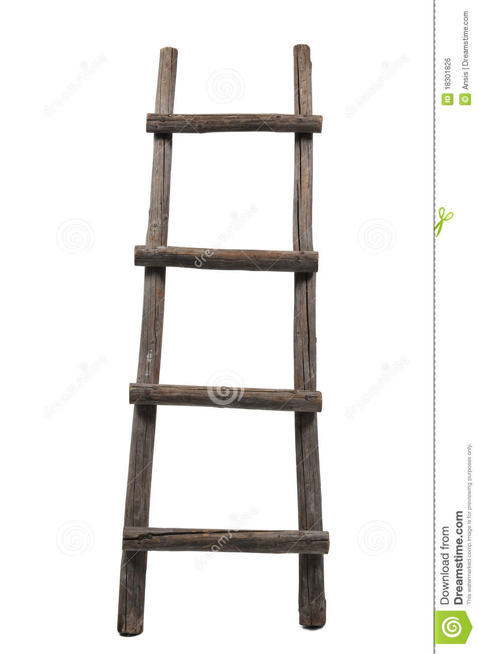 Old Wooden Ladder Royalty Free Stock Image - Image: 18301826