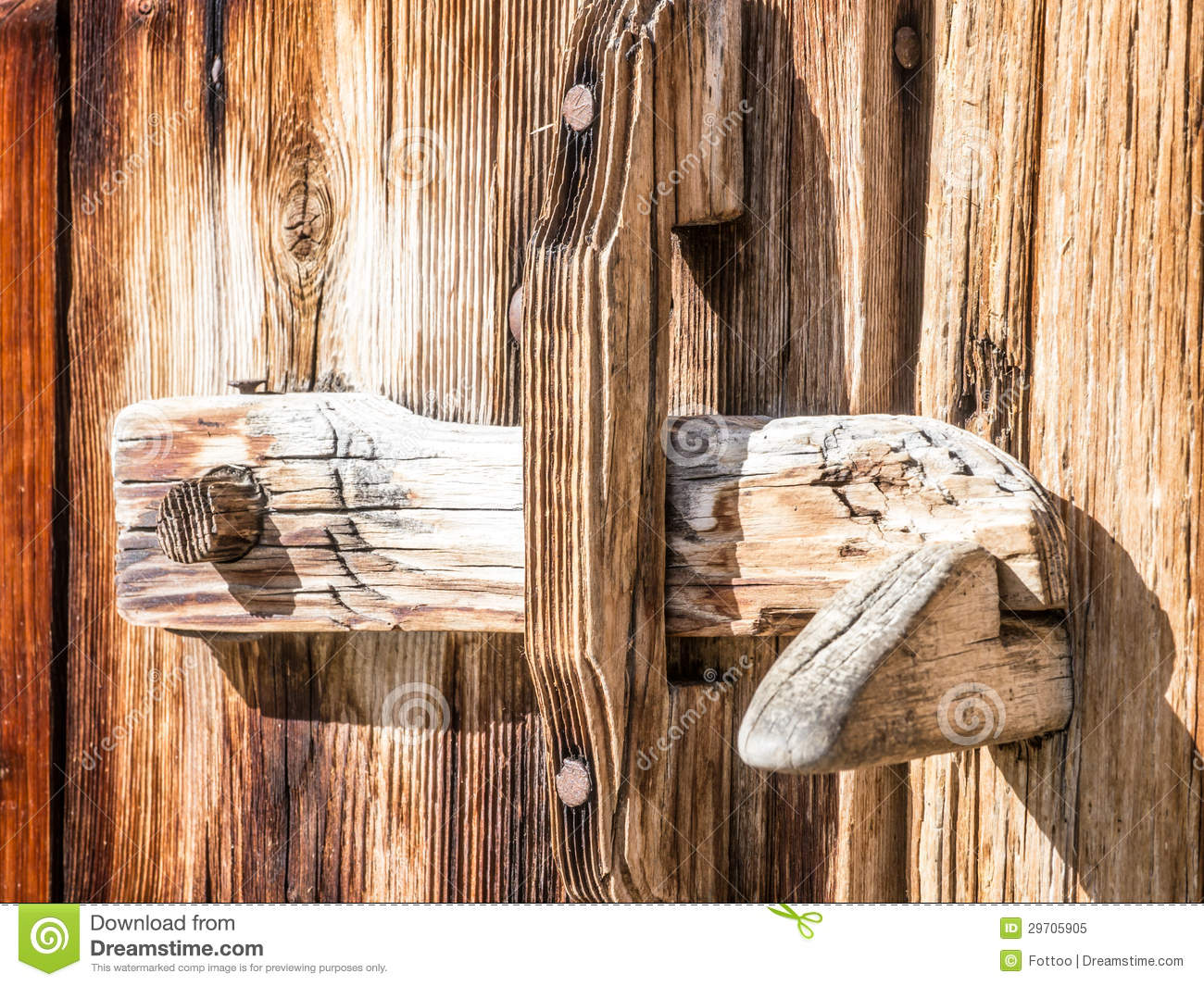 Wooden Latch Royalty Free Stock Photo Image 29705905