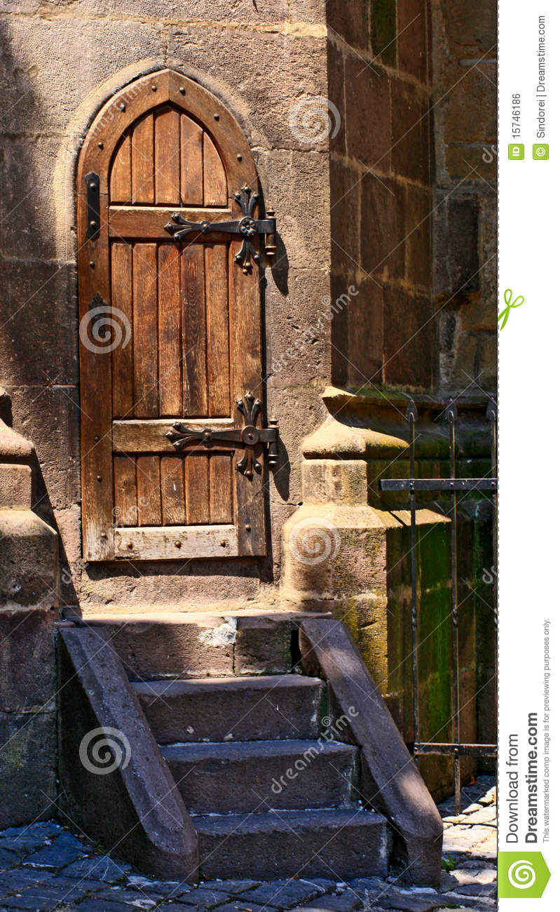 Old Wooden Medieval Door Stock Photo Image Of