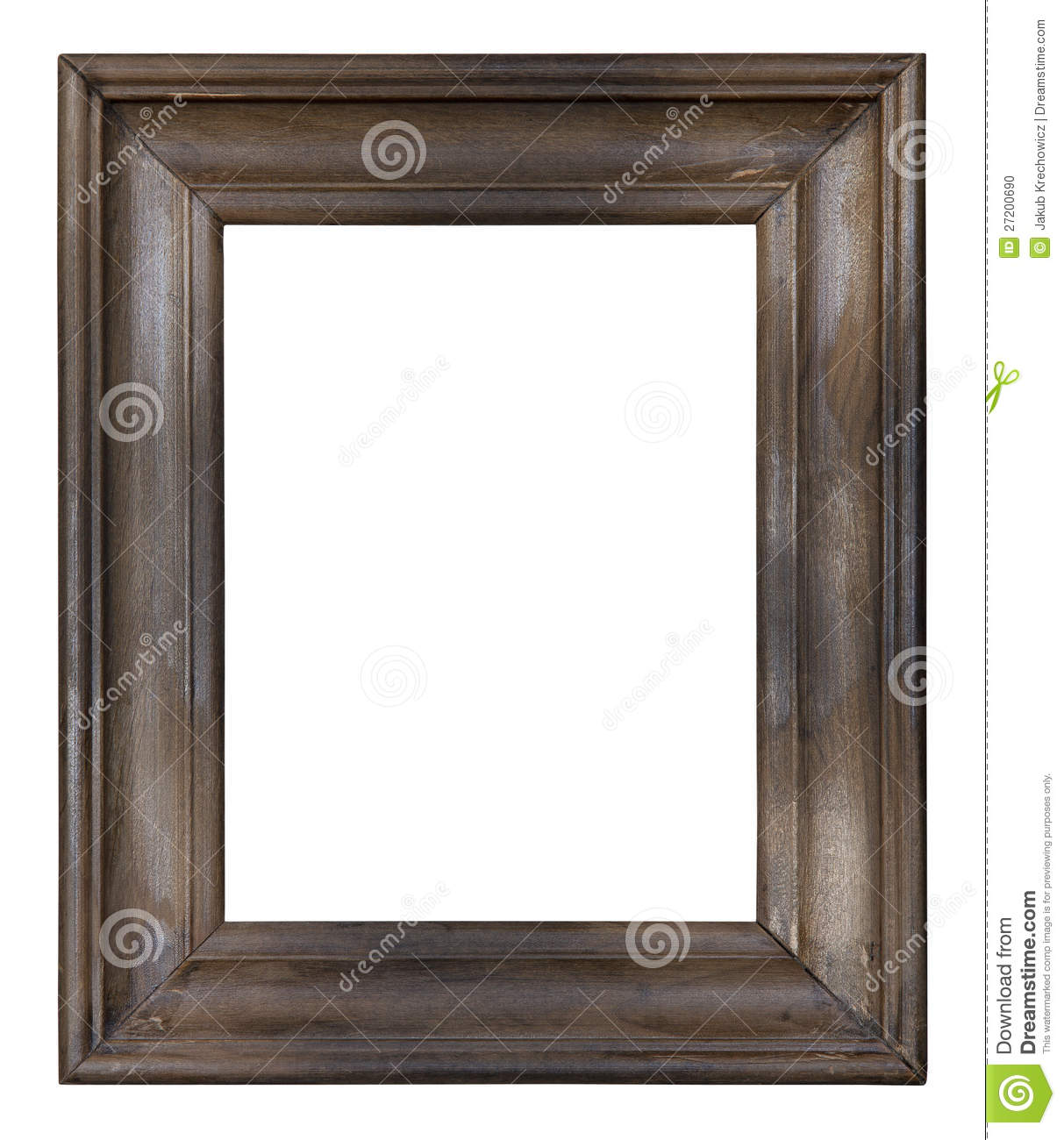 Old wooden picture frame stock photo. Image of background ...