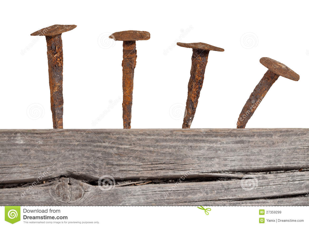 Old Wooden Planks And Rusty Nails Stock Image - Image of ...