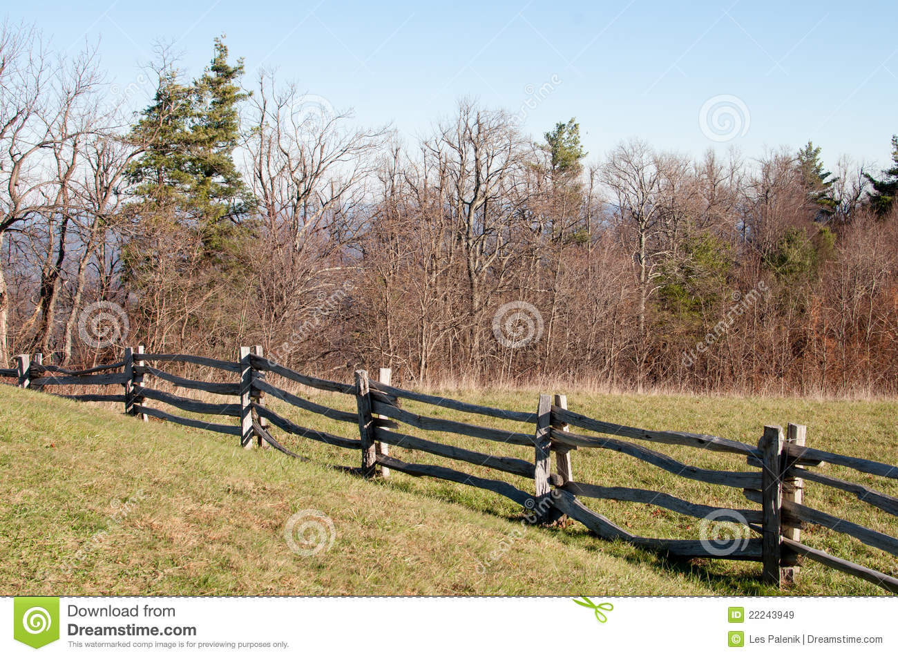 Old Wooden Rail Fence Royalty Free Stock Images - Image: 22243949
