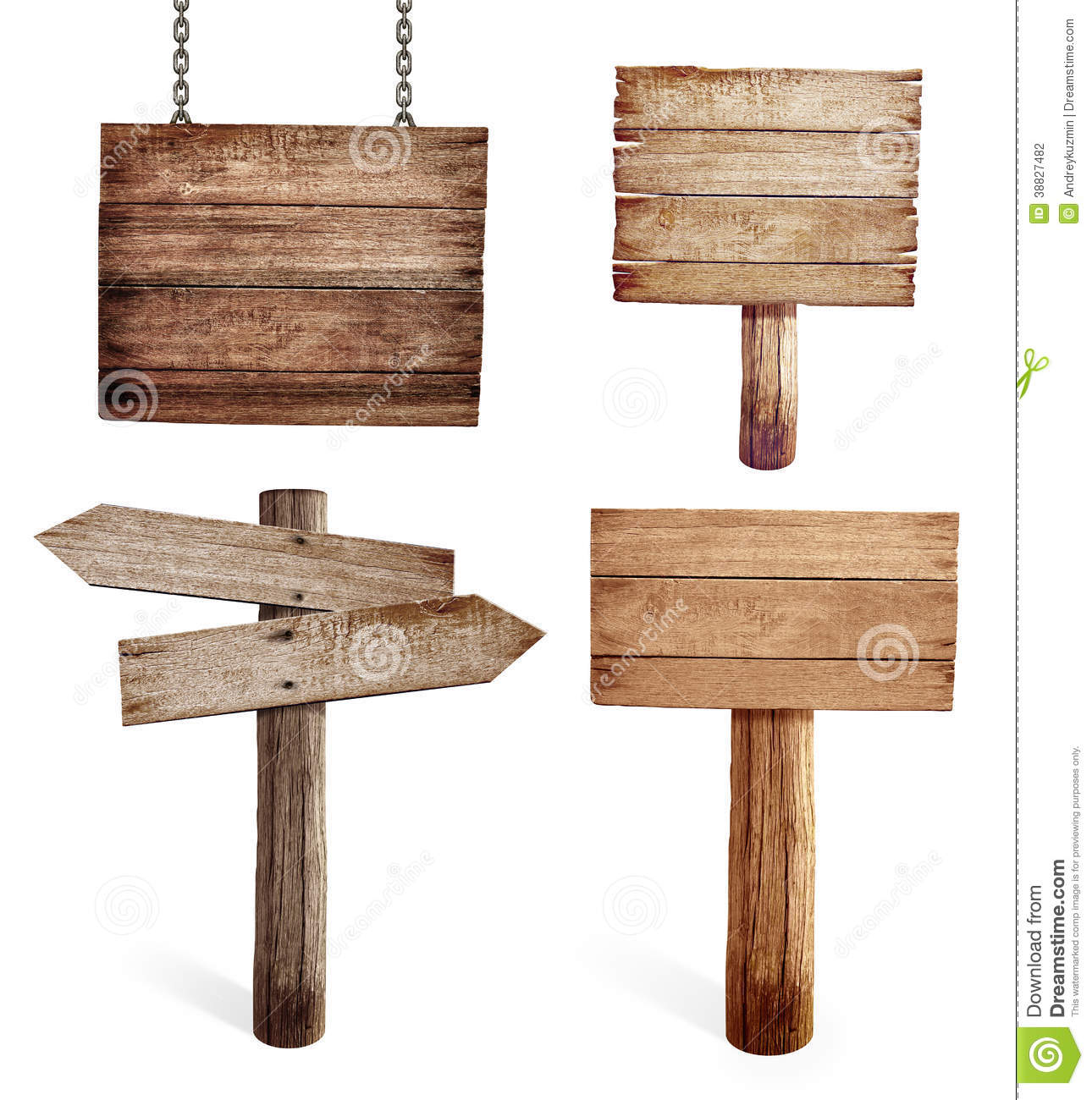 Download Old Wooden Road Signs Set Isolated Stock Photo - Image of empty, direction: 38827482