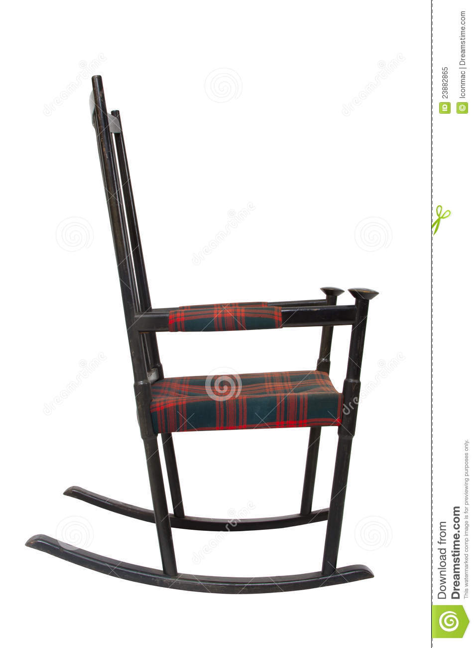 Old Wooden Rocking Chair Royalty Free Stock Photo Image