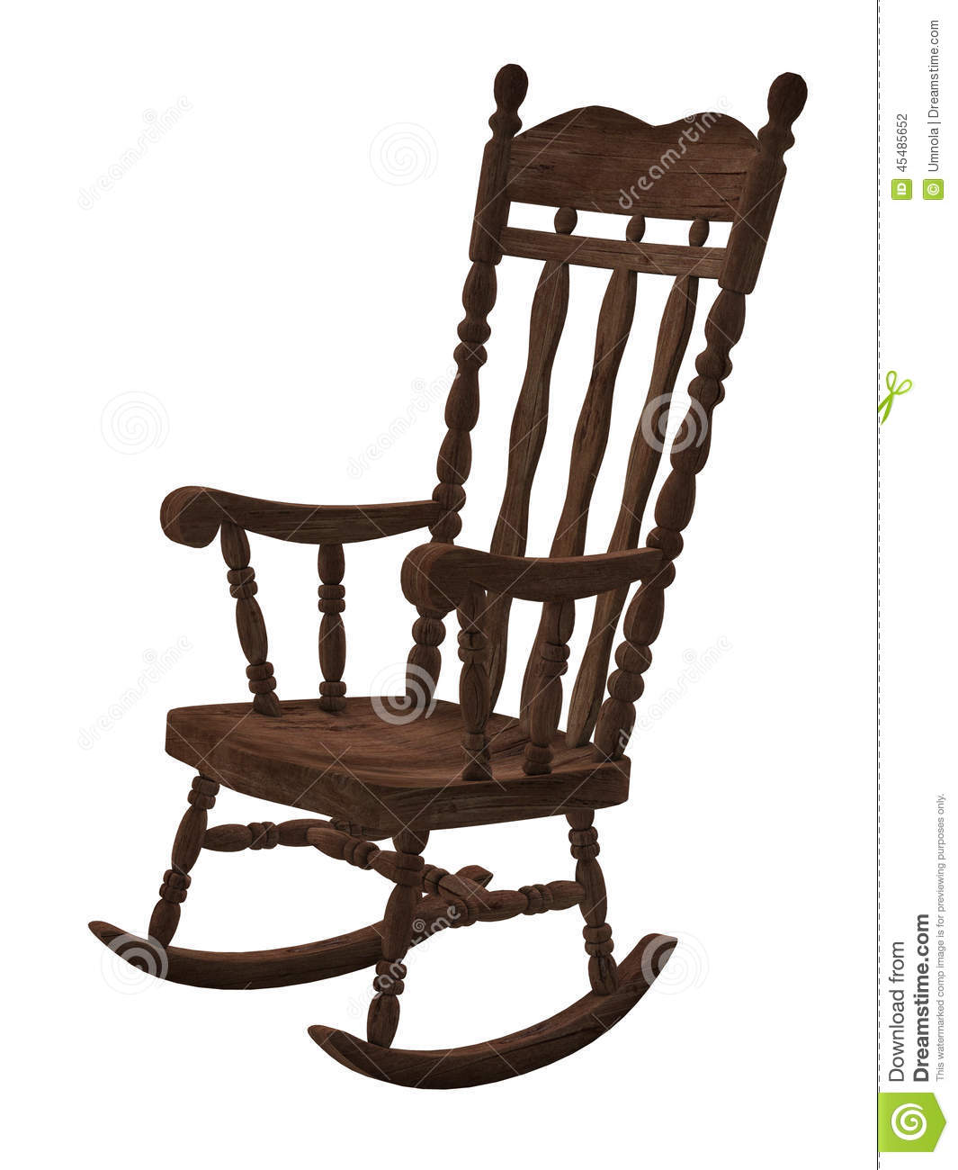 Old Wooden Rocking Chair Stock Illustration Illustration