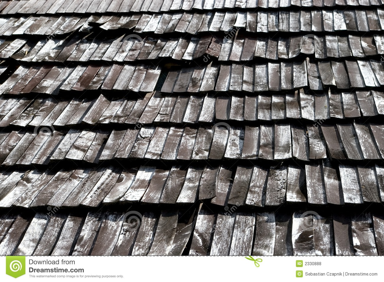 Old Wooden Roof Tiles Royalty Free Stock Photos Image