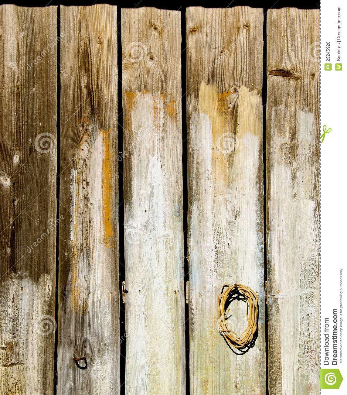 Old Wooden Rural House Wall Made Of Plank Backdrop Stock