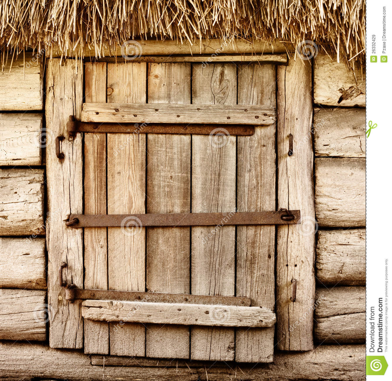 old wooden rustic door royalty free stock images