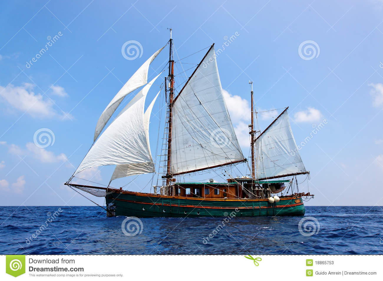 Old wooden sailboat stock image. Image of sailboat, destinations - 18865753