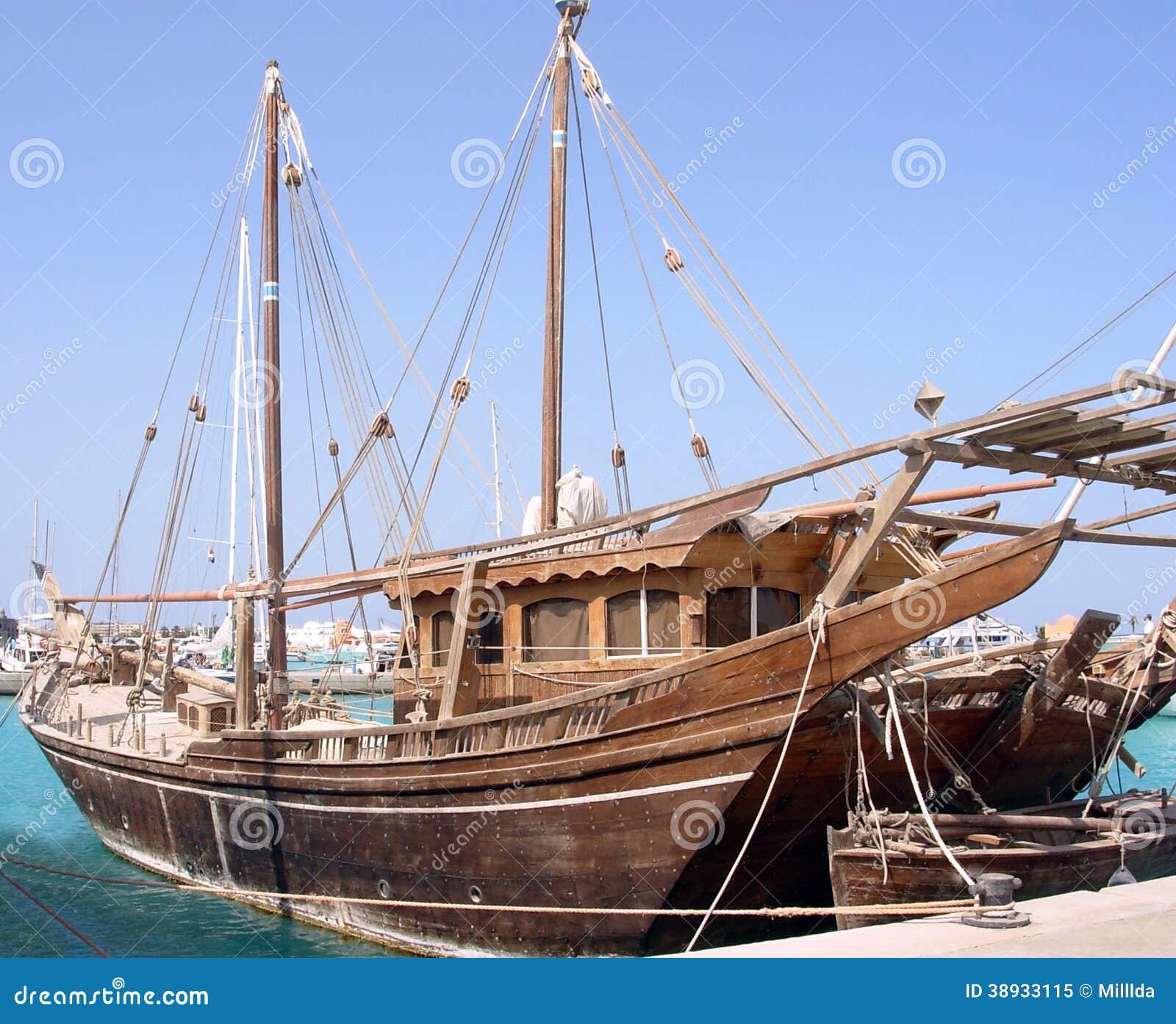 Old Wooden Sailing Ship Stock Image Image Of Vintage 38933115