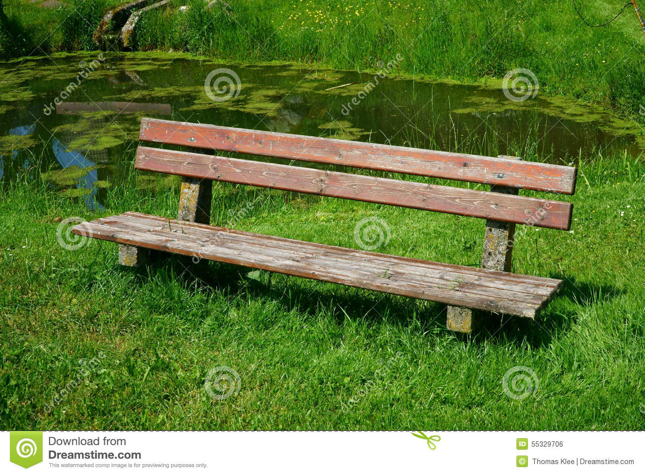 Wondrous Old Wooden Seat Bench In The Garden Stock Photo Image Of Caraccident5 Cool Chair Designs And Ideas Caraccident5Info