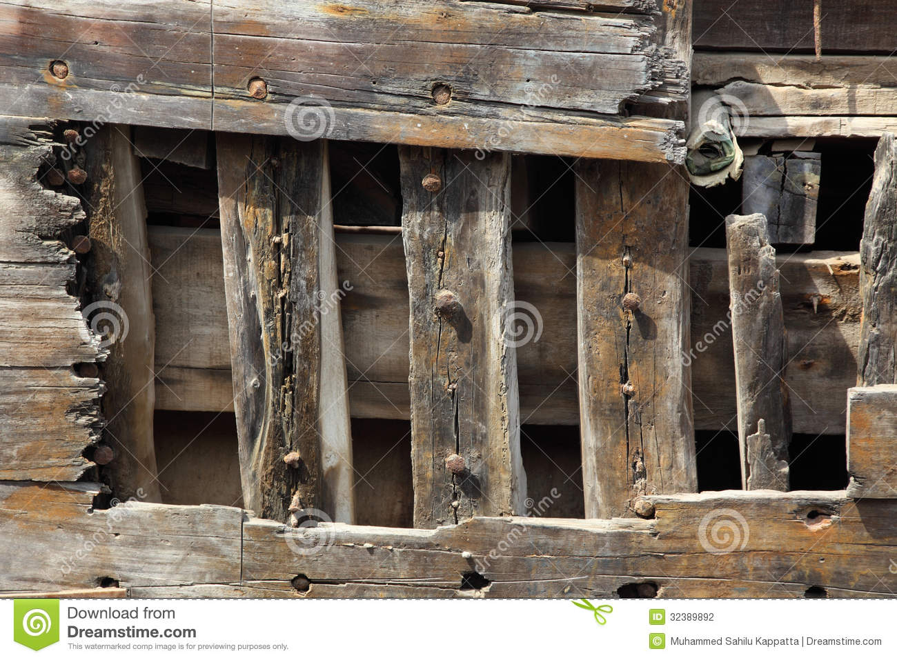Old Wooden Ship Hull Texture Grunge Wood Background Stock