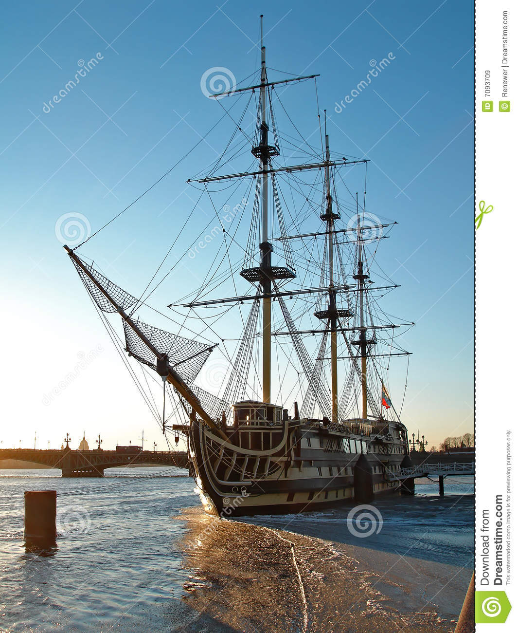 Old Wooden Ship, Saint-Petersburg Royalty Free Stock Images - Image ...
