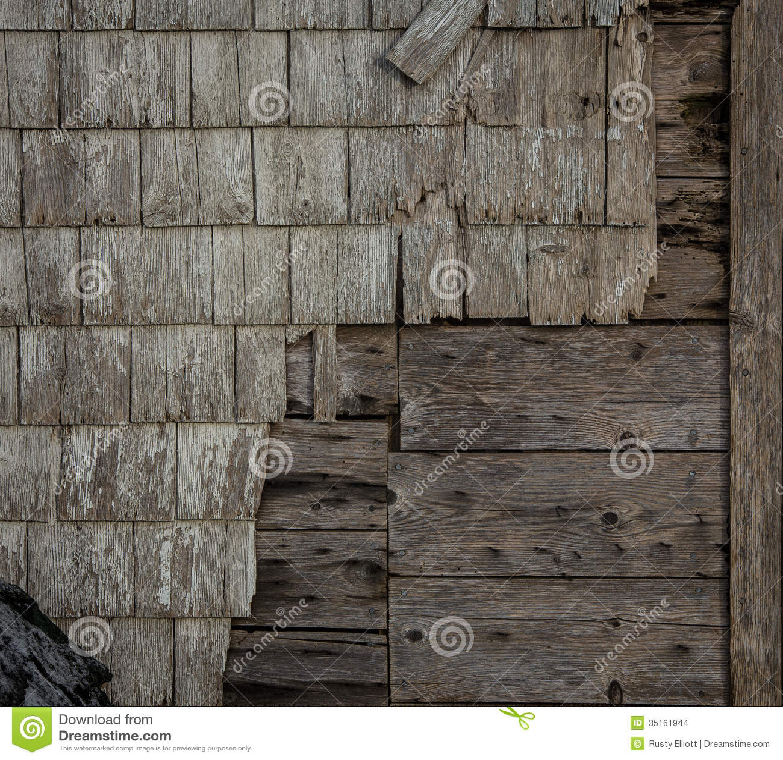 Old Wooden Siding Stock Photo Image Of Shingles Damaged
