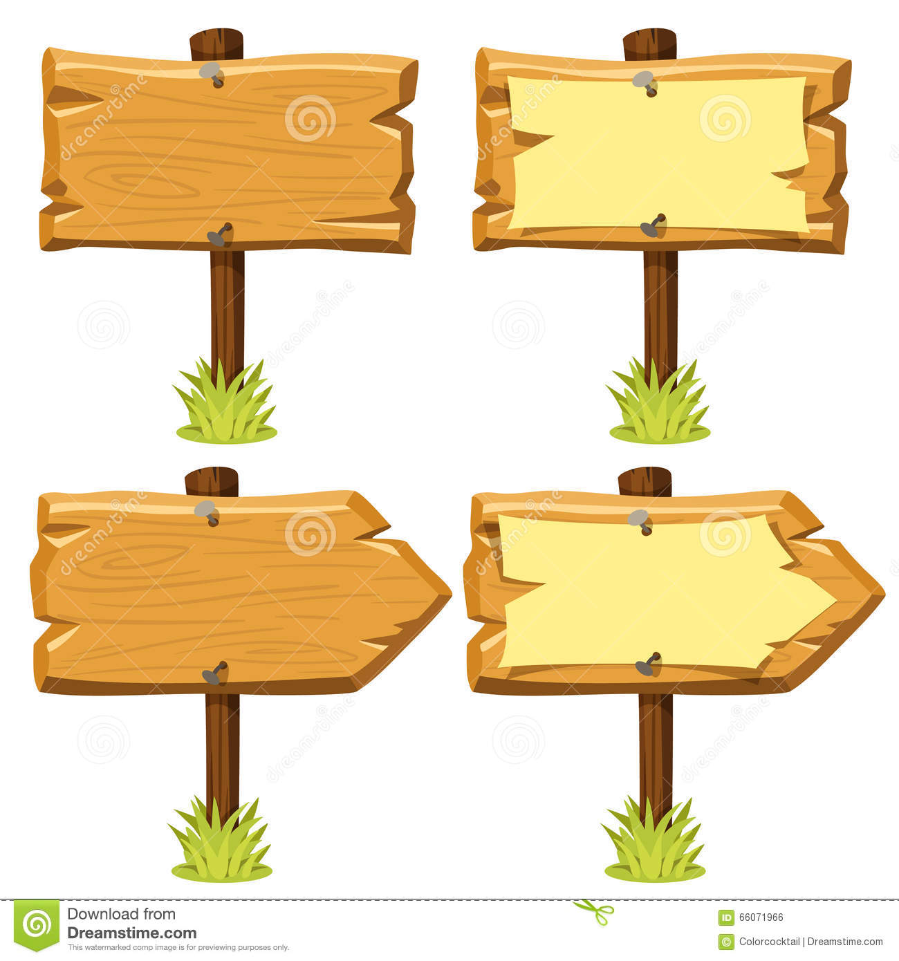 Old Wooden Signs Stock Vector - Image: 66071966