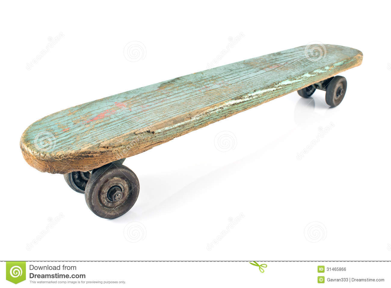 Old Wooden Skateboard Royalty Free Stock Image - Image: 31465866