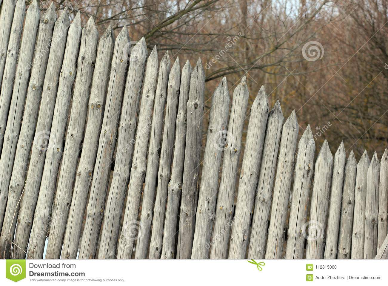 Old Wooden Stockade Fence Stock Photo Image Of Defence 112815060