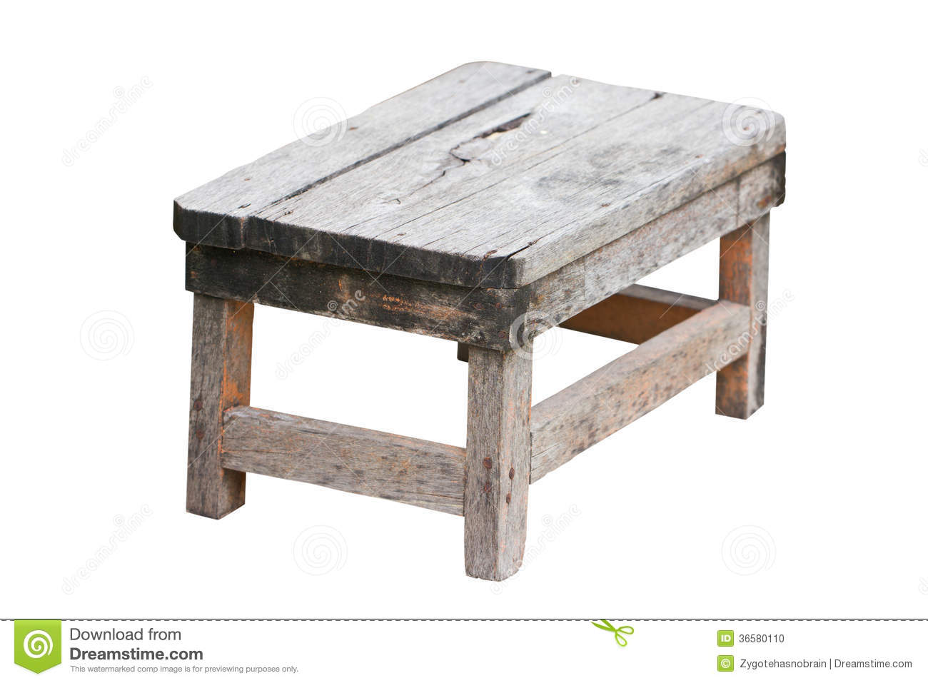 Wonderful image of Old Wooden Stool. Stock Photo Image: 36580110 with #85A625 color and 1300x957 pixels