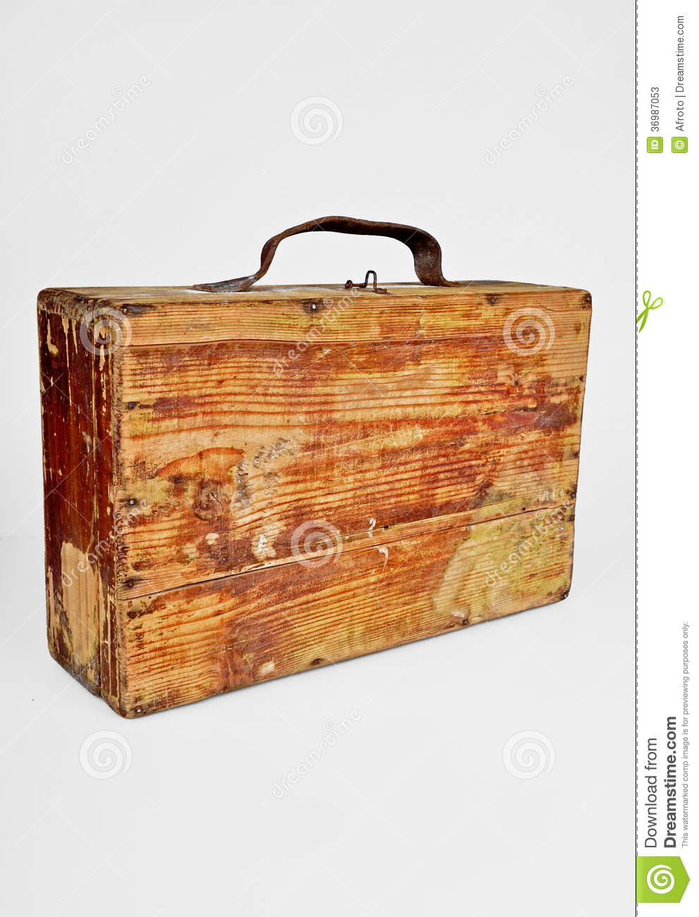 Old Wooden Suitcase Stock Photos - Image: 36987053