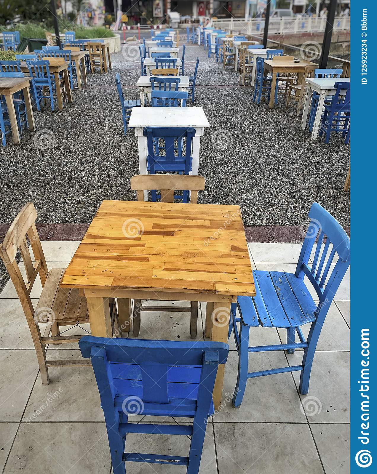 Top Image Old Wooden Cafe Chair