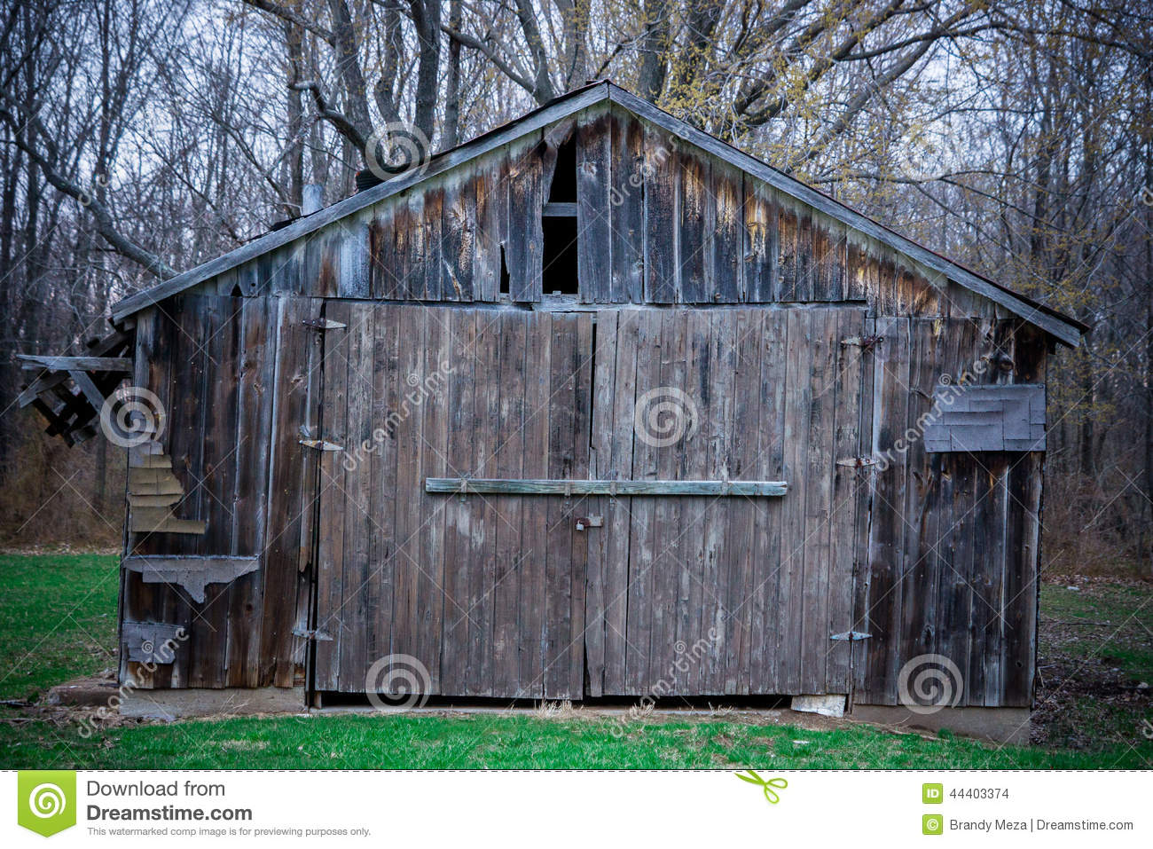 Old Wooden/Tin Barn/Shed stock photo. Image of shed, grass ...