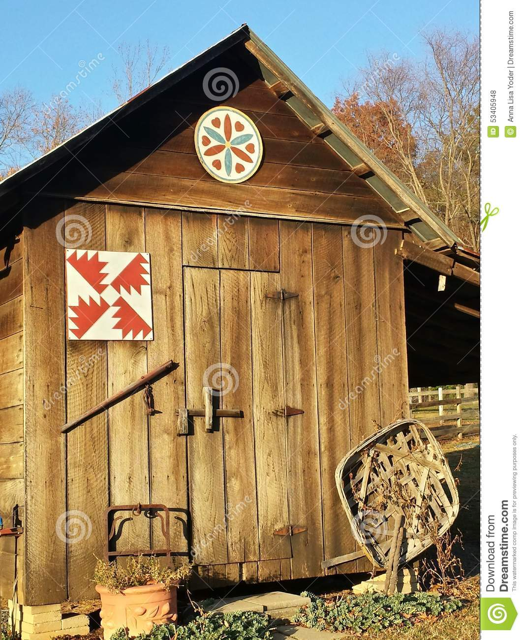 Old Wooden Tool Shed North Carolina Stock Photo Image