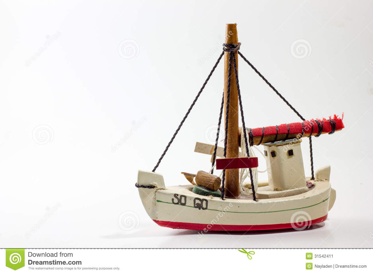 Old Wooden Toy Boat Stock Image - Image: 31542411