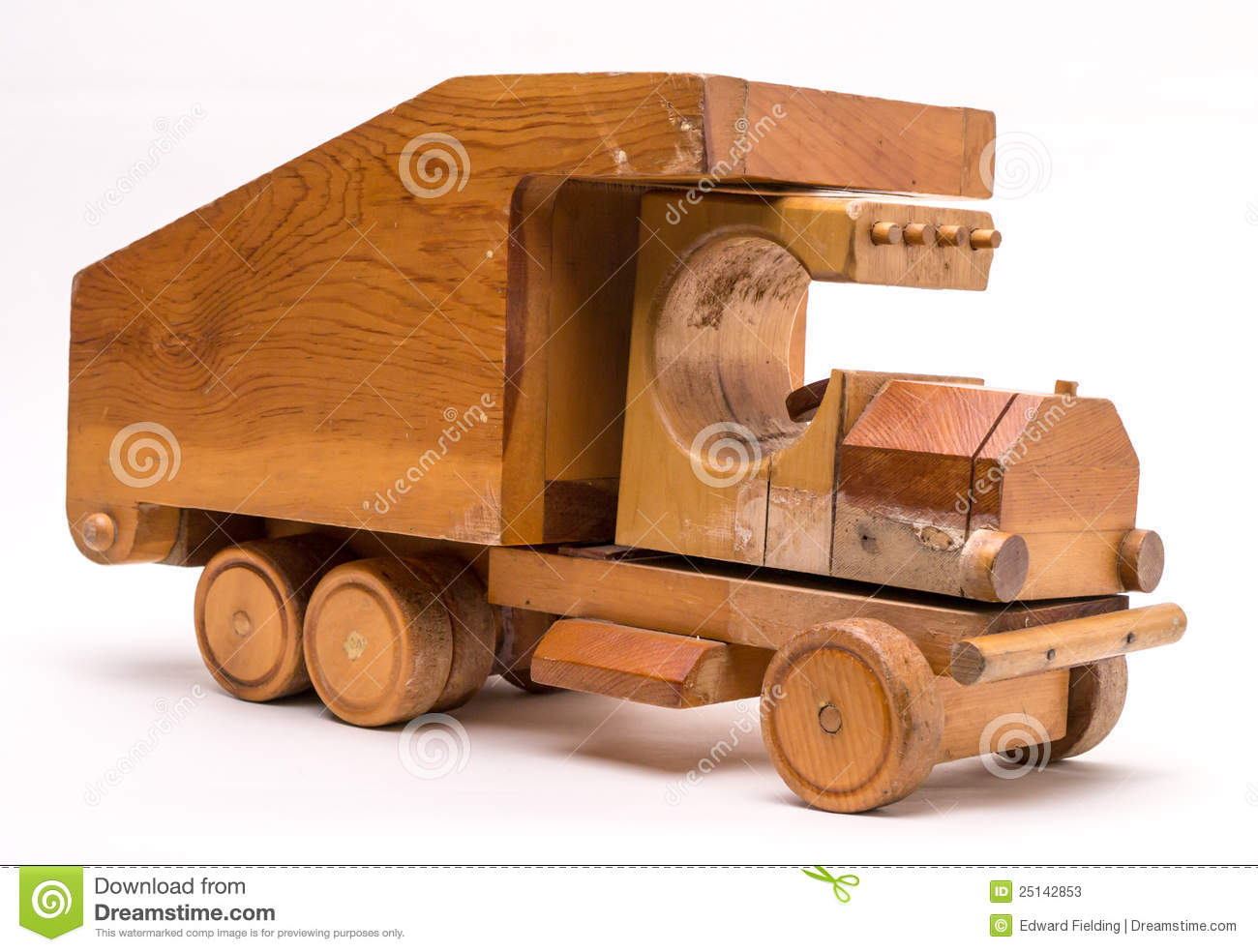 Wooden Toy Trucks Old wooden toy truck