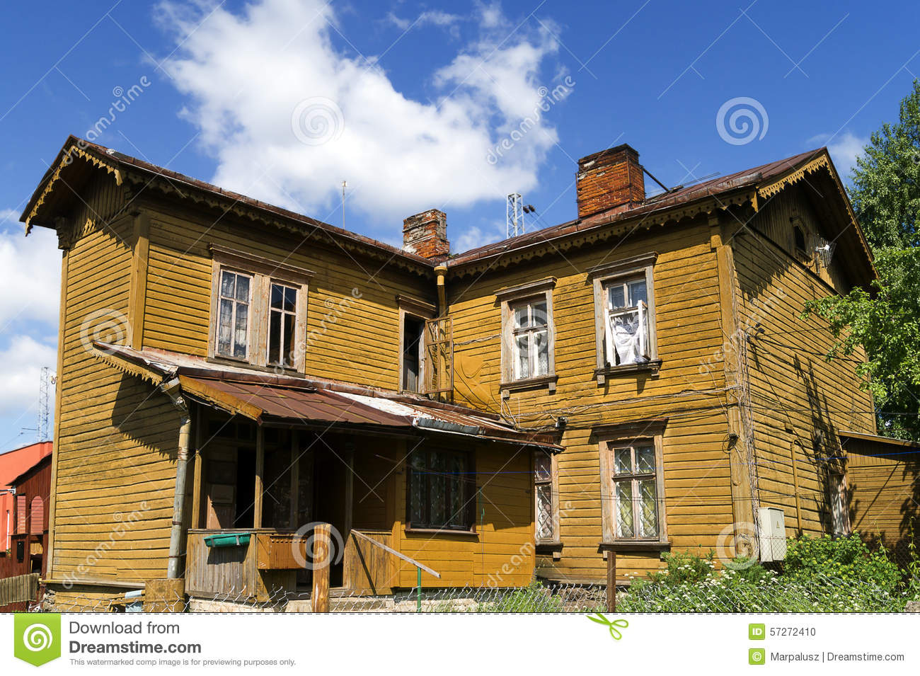 Old Wooden Two Storey House Stock Photo Image 57272410