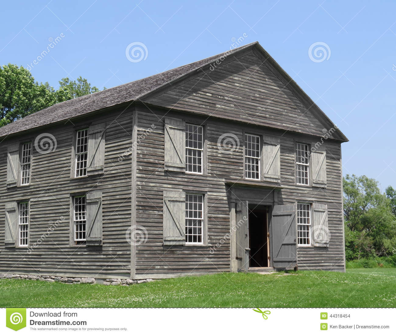 Old Wooden Two Story Building Stock Photo Image 44318454