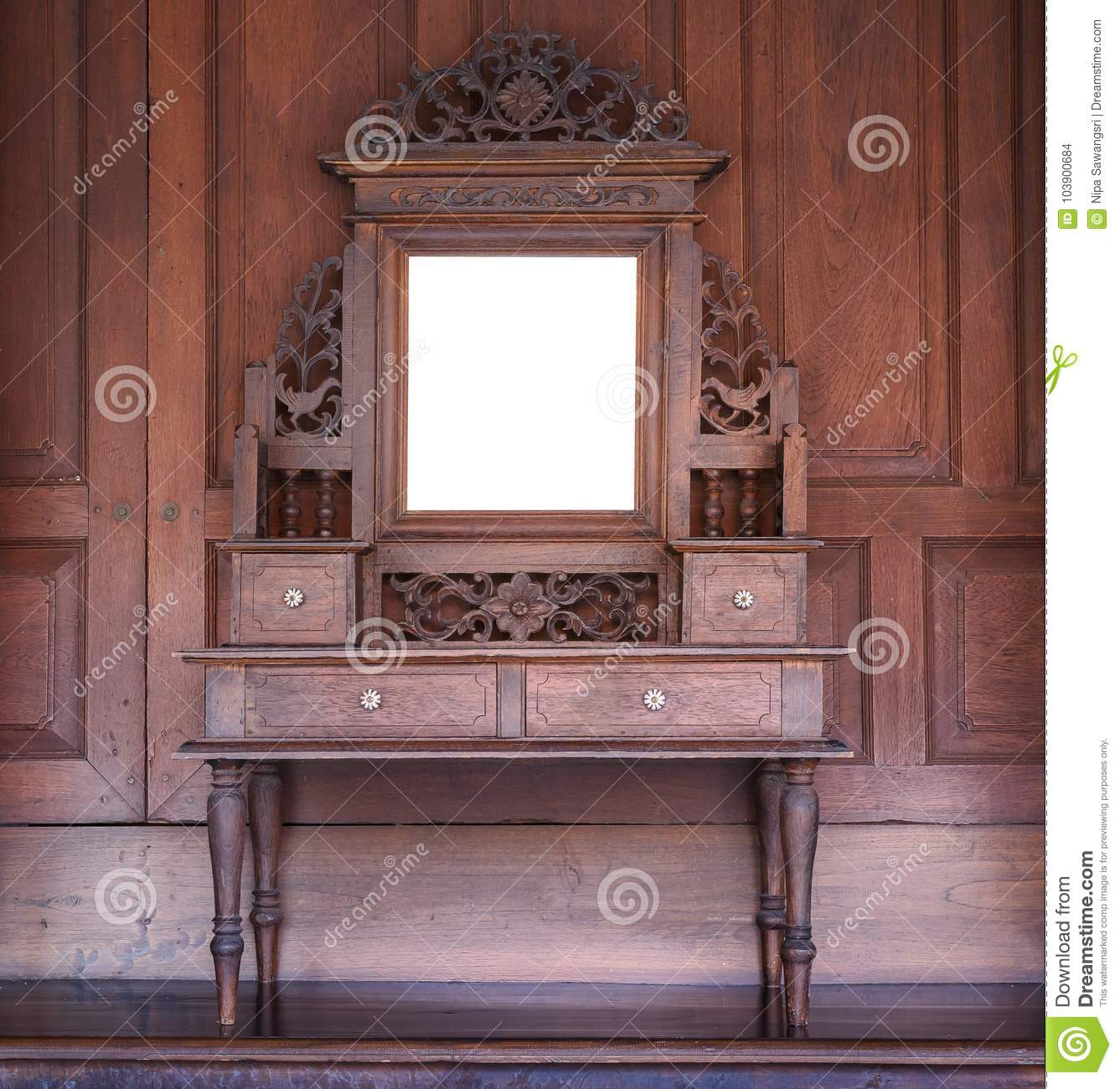 Remarkable Old Wooden Vanity In Old Thai House Style Stock Photo Download Free Architecture Designs Scobabritishbridgeorg