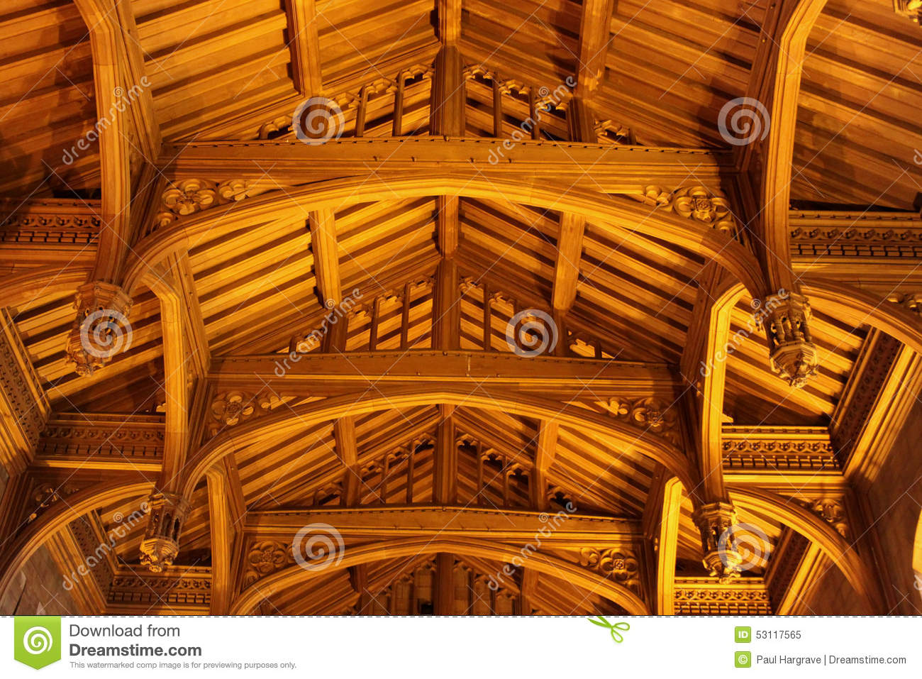 Old Wooden Vaulted Ceiling Stock Image Image Of Hardwood
