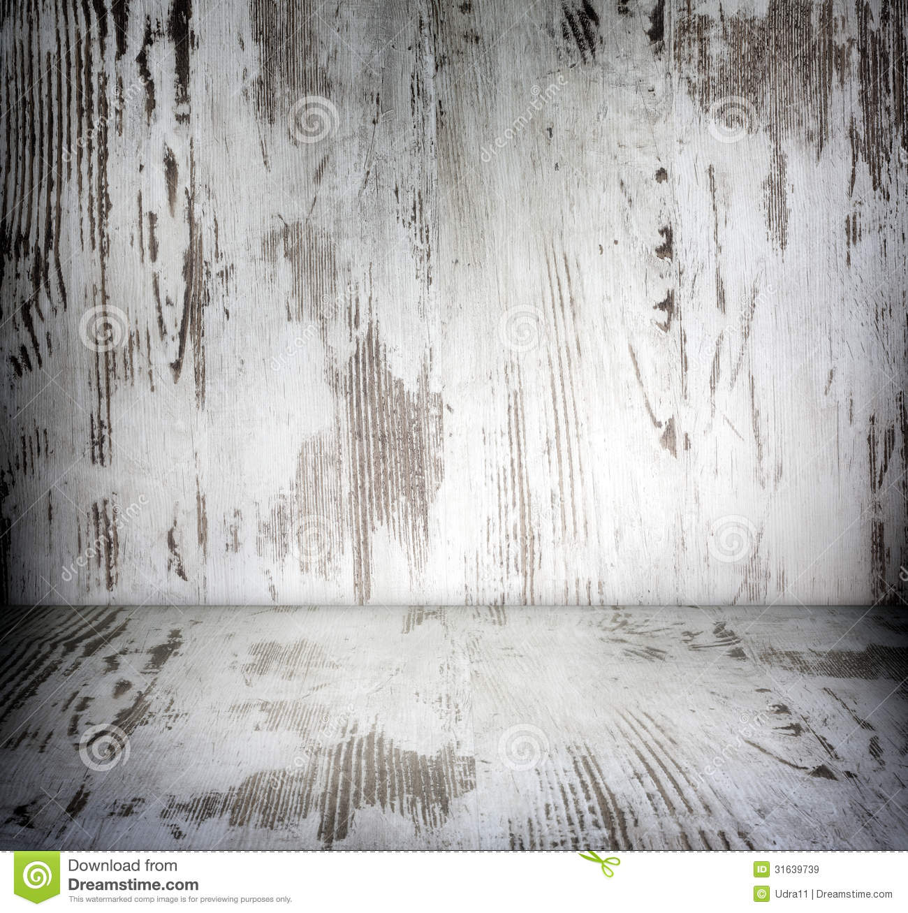 Old Wooden Vintage Damaged White Boards Room Stock Image
