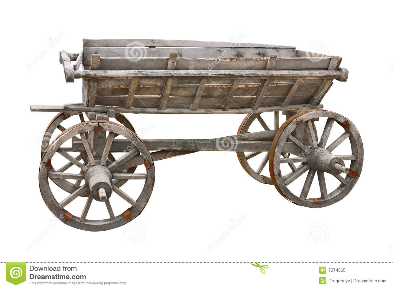 Old Wooden Wagon Standing Outside In The Sun Stock Photo 55099036 ...