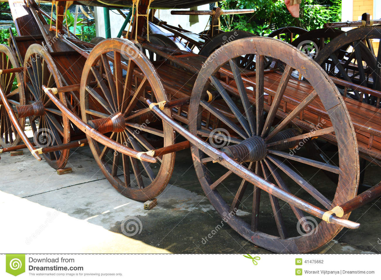 Old Wooden Wheel Stock Photo. Image Of Cart, Shed, Wood
