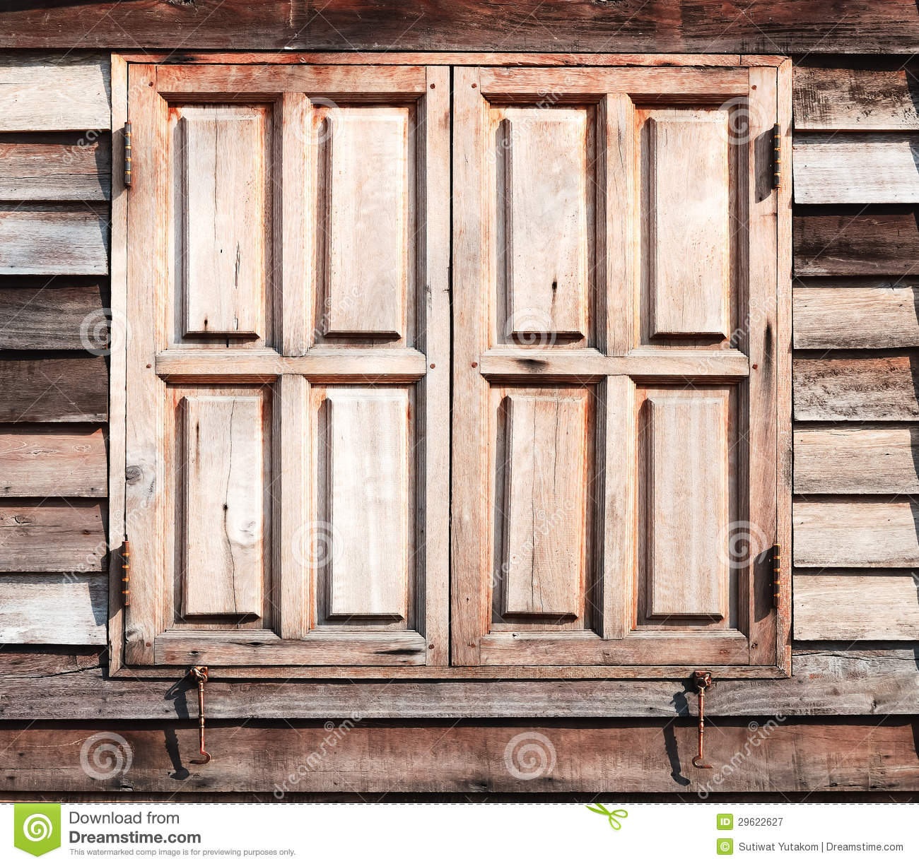 Old Wooden Window Closed Texture At Background Royalty ...
