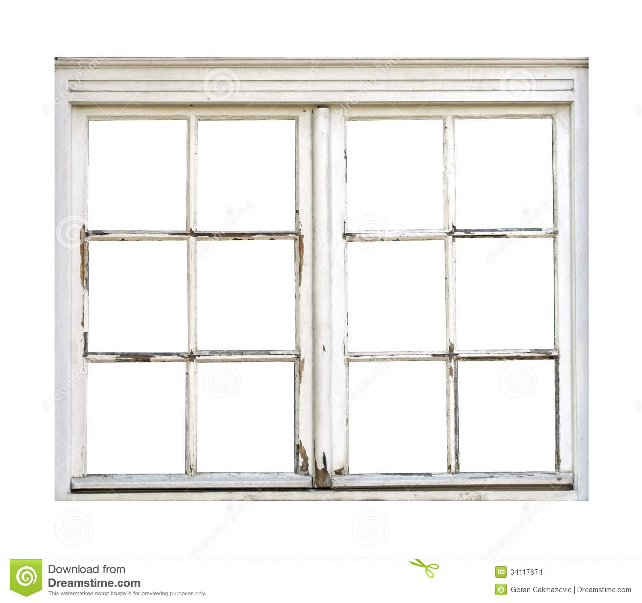 Old Wooden Window Stock Images - Image: 34117674
