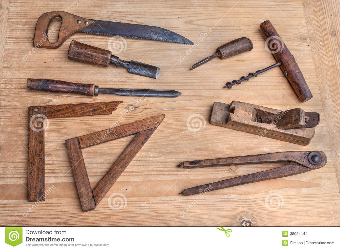 Old woodworking tools stock images image 38084144 for Travail du bois flotte