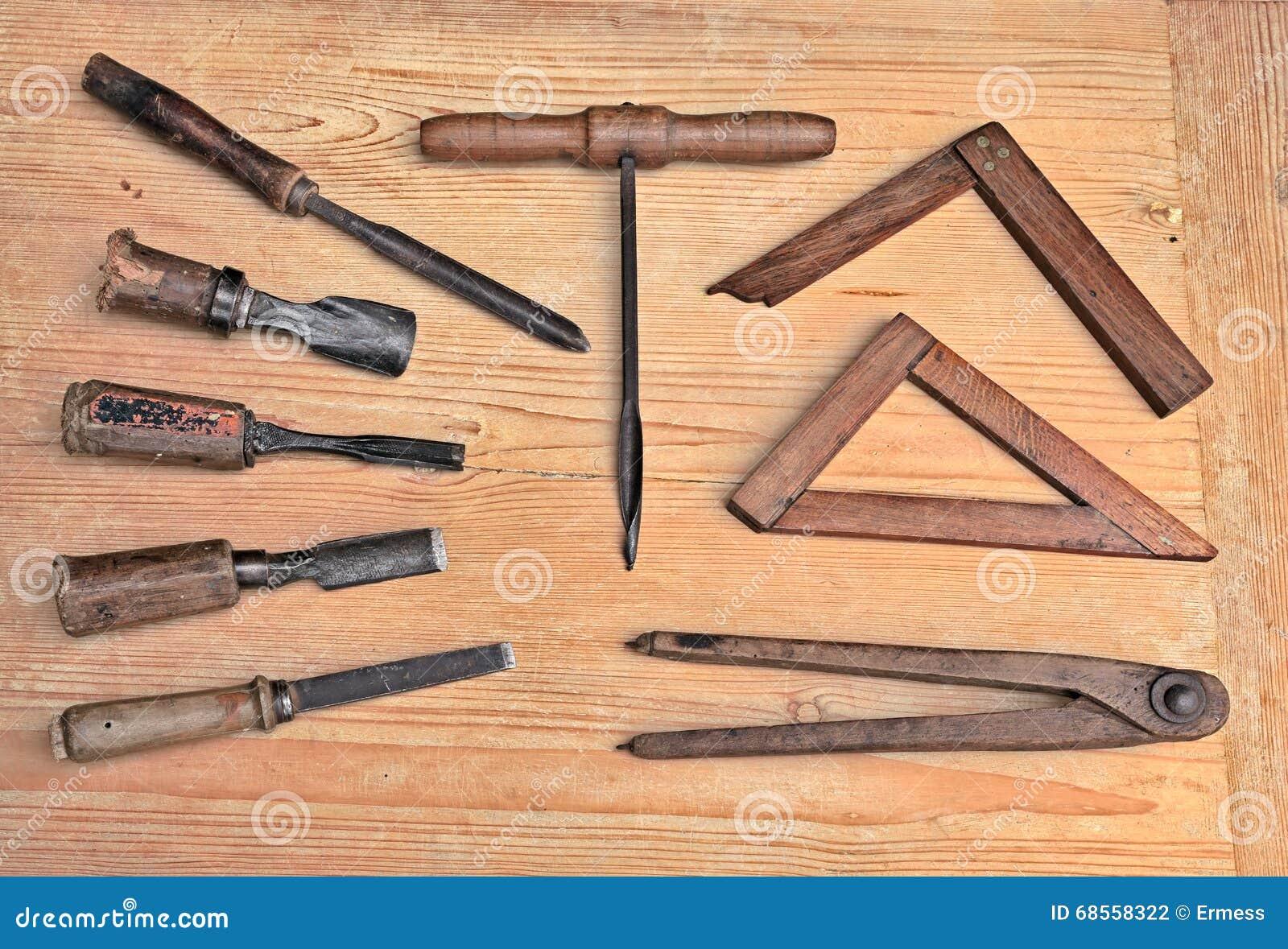 Old Woodworking Tools Stock Photo Image Of Artisanship 68558322