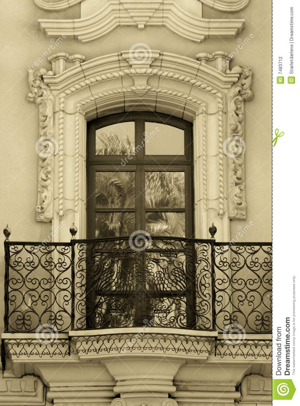 Old world balcony in san diego stock photography image for Balcony in spanish