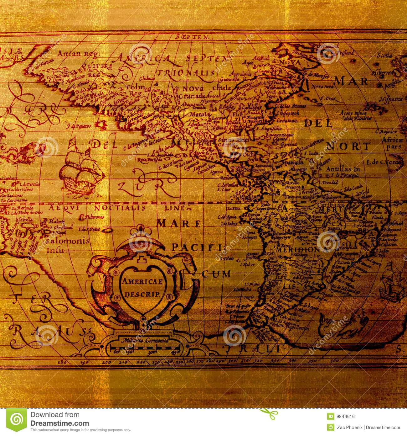 old world cartography map