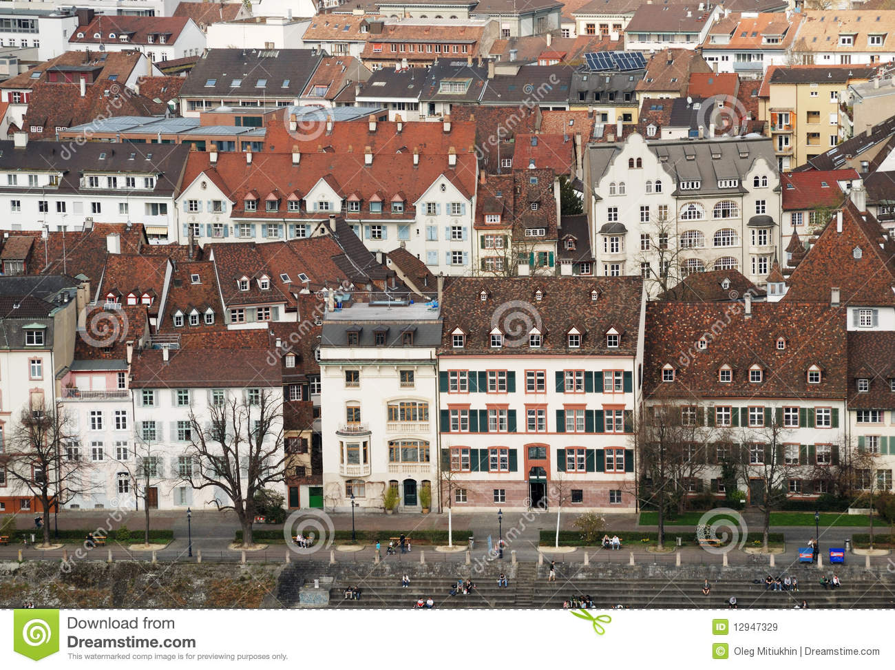 Old world city architecture of basel royalty free stock for Old world architecture