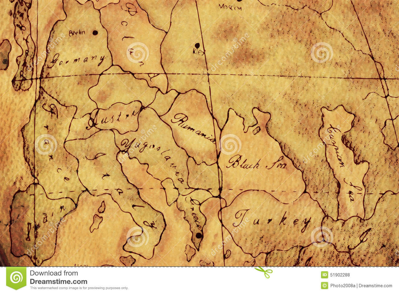 Old World Europe Map Background Stock Illustration Illustration Of
