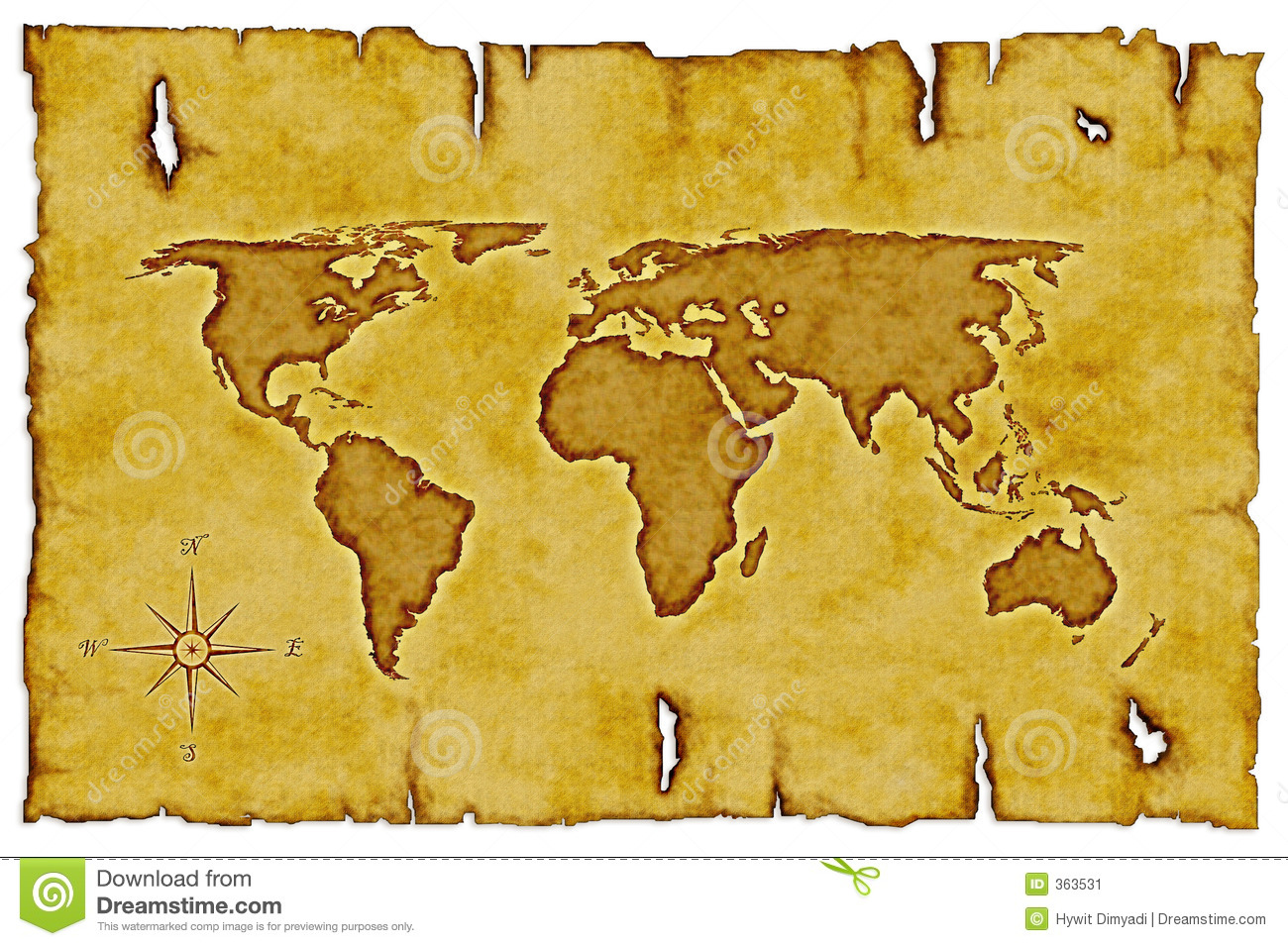 Old world map stock illustration illustration of distressed 363531 old world map gumiabroncs Image collections