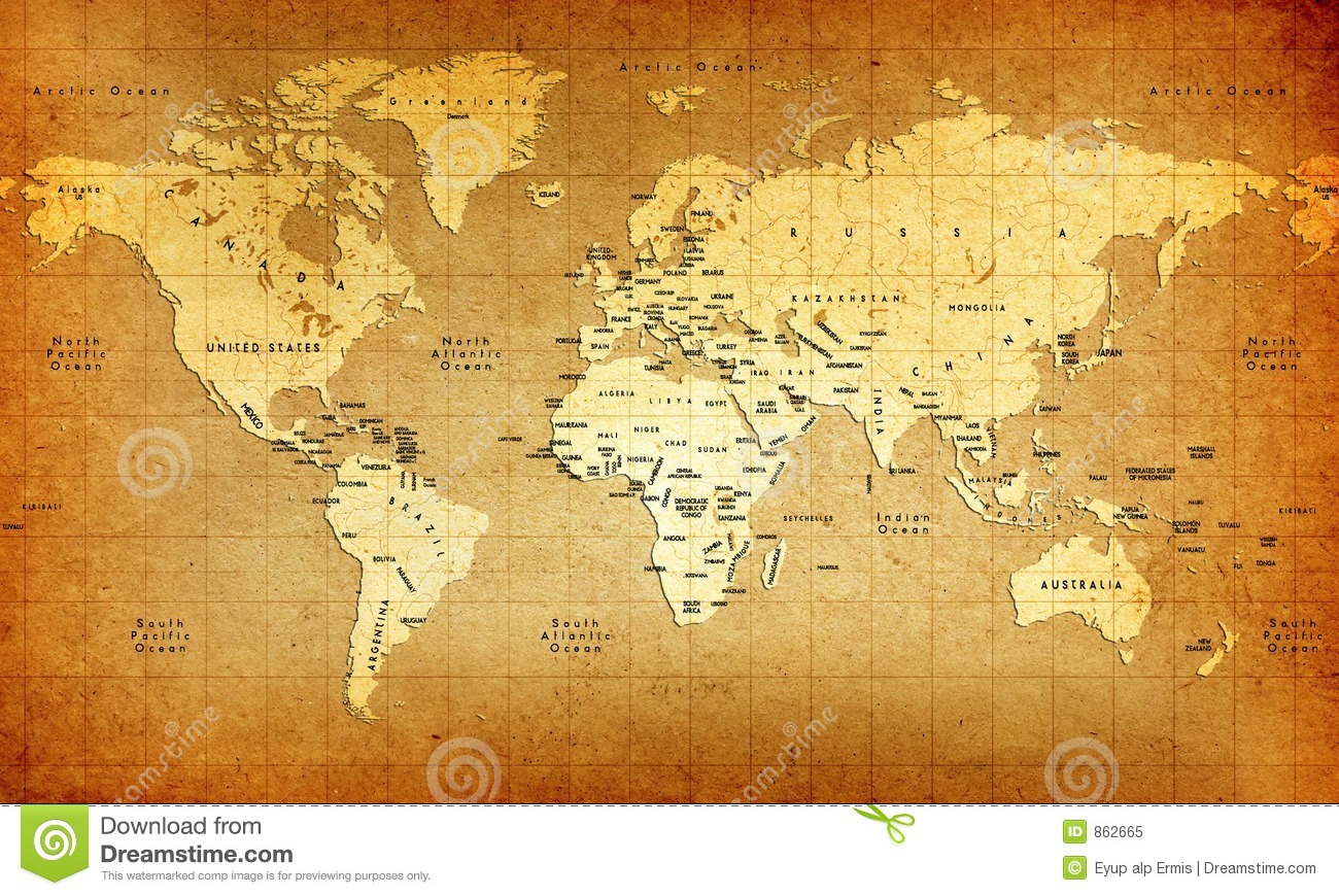 Old world map stock illustration illustration of ocean 862665 old world map royalty free stock photo gumiabroncs Images
