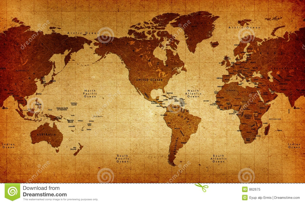 Old world map stock illustration illustration of asia 862675 old world map royalty free stock photo gumiabroncs Images