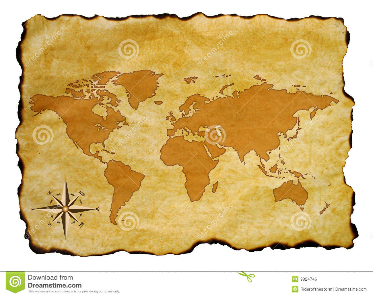 Old world map stock illustration illustration of background 9824746 old world map gumiabroncs Choice Image