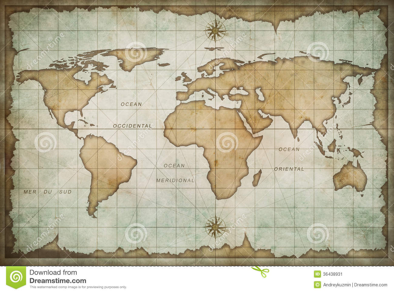 Old world map stock illustration illustration of finding 36438931 old world map gumiabroncs Gallery