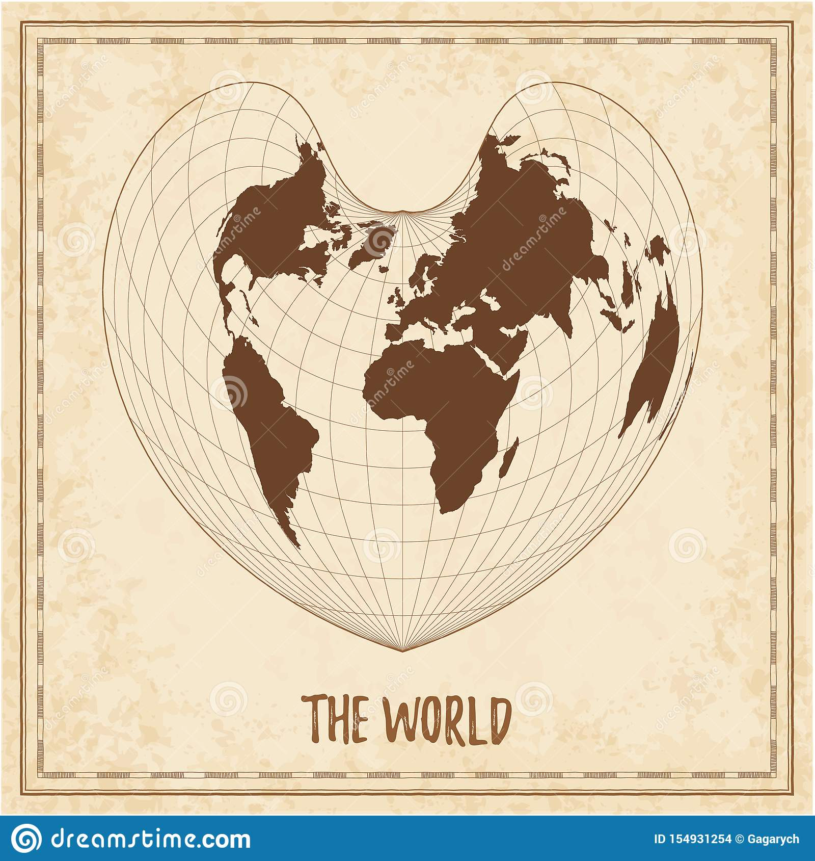 Old world map  stock vector  Illustration of growth - 154931254