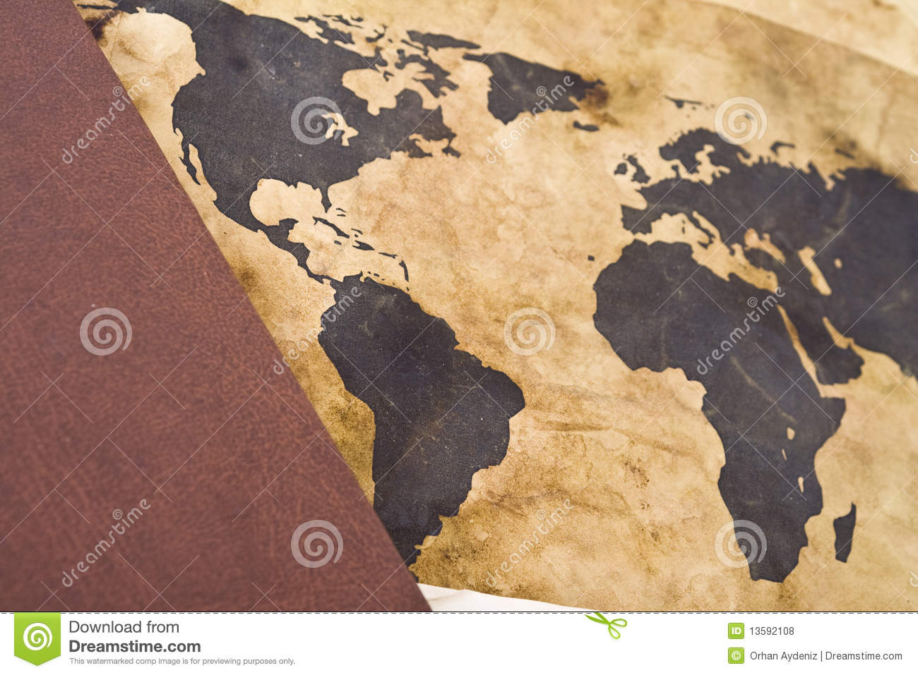 Old world map with book stock photo image of design 13592108 old world map with book royalty free stock photo gumiabroncs Image collections